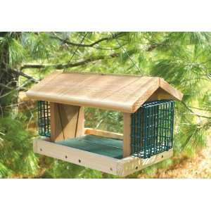 with 2 Suet Baskets   Combination Bird Feeder, 2 Compartments for Suet