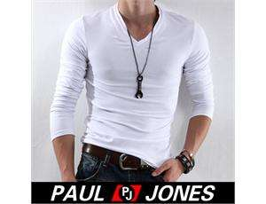 Stylish Strong Mens Slim fit T Shirt V neck design 95% cotton comfy