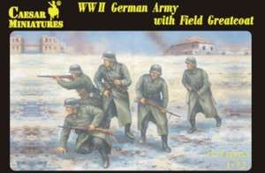 Caesar Miniatures 69 WWII German Army with Field Greatcoat 1/72 Scale