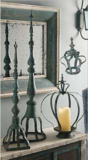 Antiqued Metal Finial Table Decor 9.8x41.5   32580