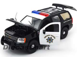 JADA 124 2010 CHEVY TAHOE HIGHWAY PATROL NEW DIECAST POLICE CAR BLACK