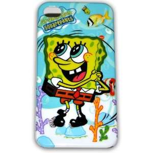 Spongebob Squarepants Hard Case for Iphone 4g/4s Ib033c + Free Screen