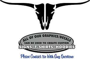 Longhorn Cow Sticker Decal 4 Laptop Livestock Trailer Truck Window RV