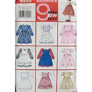 Sewing Pattern Baby Girl Infant Dress Pinafore Size 1, 2, 3, 4 Toddler
