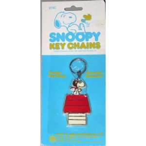 Peanuts Snoopy Flying Ace Keychain from 1980s Toys
