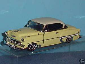 1953 CHEVY BEL AIR DUB CITY CUSTOM 124 YELLOW & WHITE
