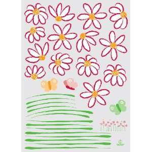 Easy Instant Home Decor Wall Sticker Decal   Daisies and