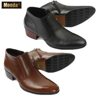 MOODA COONI NEW MENS FASHION LUXURY LEATHER ANKLE BOOTS SHOES BLACK