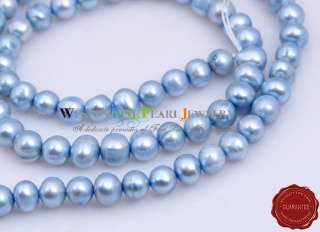 6MM LOOSE LIGHT BLUE CULTURED FRESHWATER PEARL BEAD