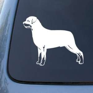 ROTTWEILER   Dog   Vinyl Car Decal Sticker #1551  Vinyl Color White