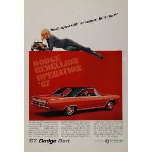 1967 Ad Red Dodge Dart GT Muscle Car Chrysler   Original Print Ad