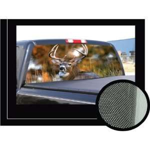 DEER2 22 x 65   Rear Window Graphic   back truck decal