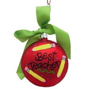 Personalized Best Teacher Christmas Ornament