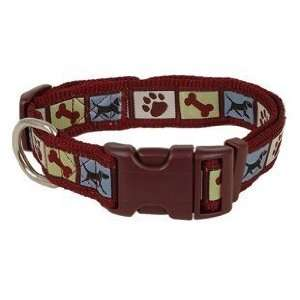 Douglas Paquette Nylon Dog Collar BROWN DOG 5/8x7 11