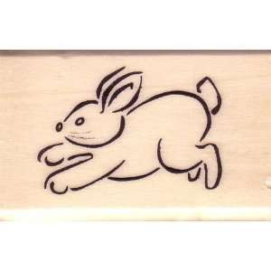 Cute Hopping Bunny Rabbit Rubber Stamp by Anitas Rubber