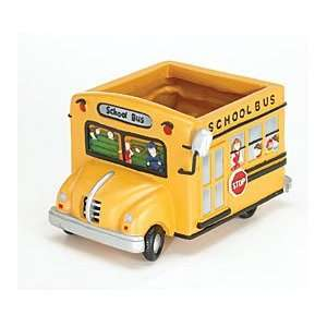 School Bus Planter Great Gift For Teachers, School Bus Drivers,Home