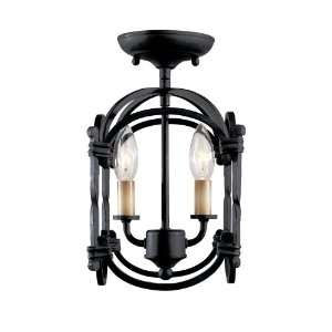 World Imports   Hastings   Flushmount Light   Rust   61409