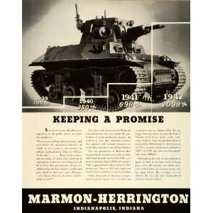 1943 Ad Marmon Herrington WWII War Production Army Combat