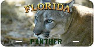 Panther Florida Aluminum Car Novelty License Plate