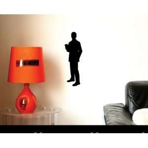 SILHOUETTE ADULT MALE COFFEE.vinyl Decal Wall Sticker