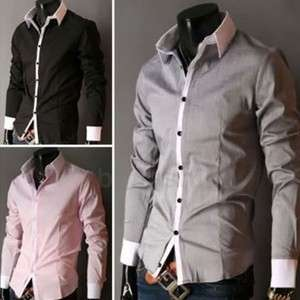 NEW 2012 Fashion Mens Casual Slim Fit Luxury Stylish Dress Shirt 3