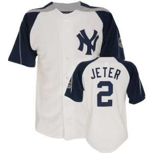 Derek Jeter White Majestic Laser New York Yankees Jersey