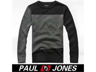 Designed~Warmer Luxury Mens Casual Crew Neck Knitting Sweater Two