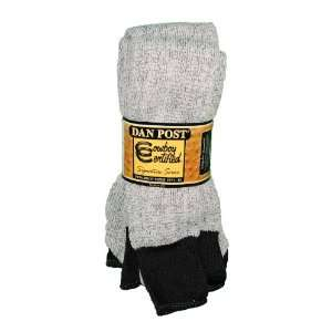 3 Pairs Mens Dan Post Hiking Socks 10 13 Lt Gray/Black