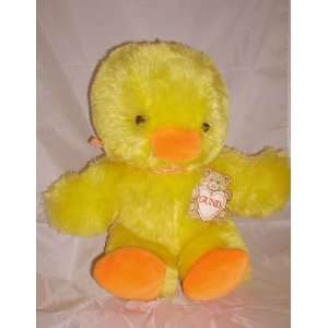 10 Plush Yellow Fluffy Sunshine Duck Toys & Games