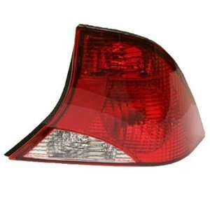 2003 04 FORD FOCUS TAILLIGHT SEDAN WITH BLACK HOUSING, PASSENGER SIDE