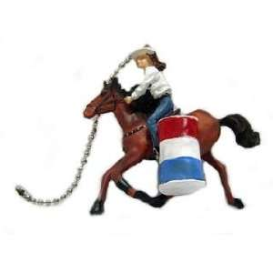 BARREL RACER horse pony Ceiling fan PULL rodeo NEW