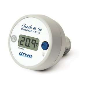 Drive Medical O2 Analyzer with 3 Digit LCD Display, White