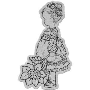Penny Black Cling Stamp 4X5.25 Flower Girl Arts, Crafts