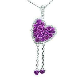 8GB Beautiful Purple Interior Rose Heart Design USB Flash