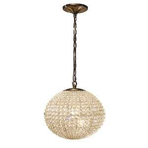 Newbury Collection 1 Light 15 Antique Brass Hand Cut Crystal Pendant
