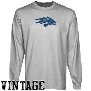 NCAA Nevada Wolf Pack Ash Distressed Logo Vintage Long