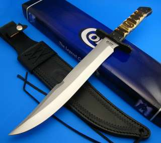 COLT Fixed Blade Large Bowie Hunting Knife Stag Handle w/ Custom