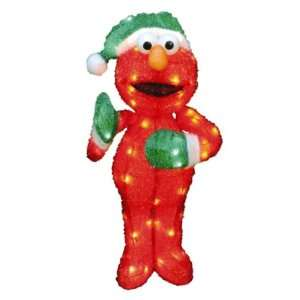 Sesame Street 32in Christmas 3d Soft Tinsel Pre lit Elmo