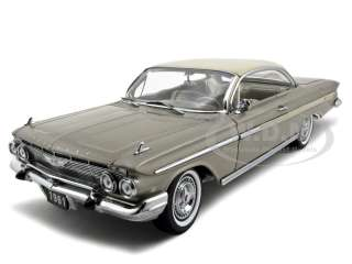 1961 CHEVROLET IMPALA HT DIECAST CAR 118 BEIGE 1OF1200