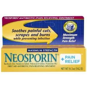 Plus Pain Relief Antibiotic Ointment, Maximum Strength 0.5 ounces