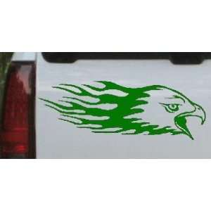 Flaming Eagle Head Car Window Wall Laptop Decal Sticker Automotive