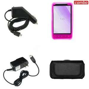 HTC HD2 Combo Trans. Hot Pink Silicon Skin Case Faceplate