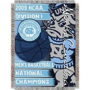 North Carolina Tar Heels NCAA 09 Basketball Natl Champs Tapestry Throw