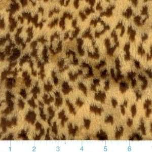 1 1/2 YD Plush Faux Fur Cheetah Tan/Black By The Each