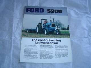 Ford 5900 tractor tractors specification sheet brochure
