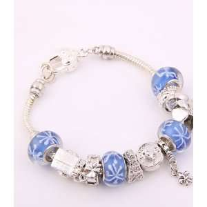 Fashion Jewelry Desinger Murano Glass Bead Bracelet Blue