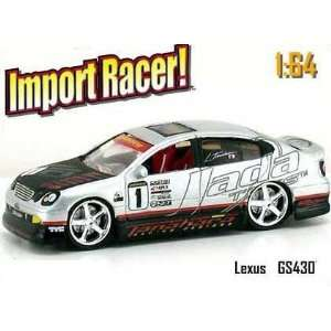Jada Dub City Import Racer Silver & Black Lexus GS430 #1 1