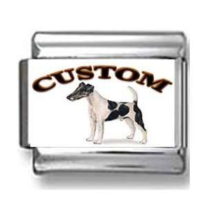 Smooth Fox Terrier Dog Custom Photo Italian Charm Jewelry