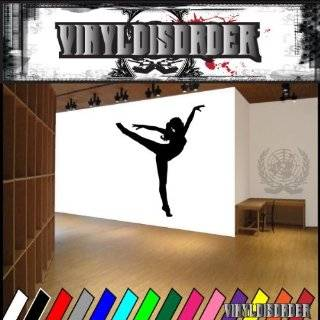 Vinyl Wall Art Decal Sticker Ballet Dancer 24x51 Ballerina