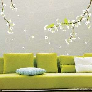 Spring Blossom Branch Birds Home Wall Art Sticker Decal